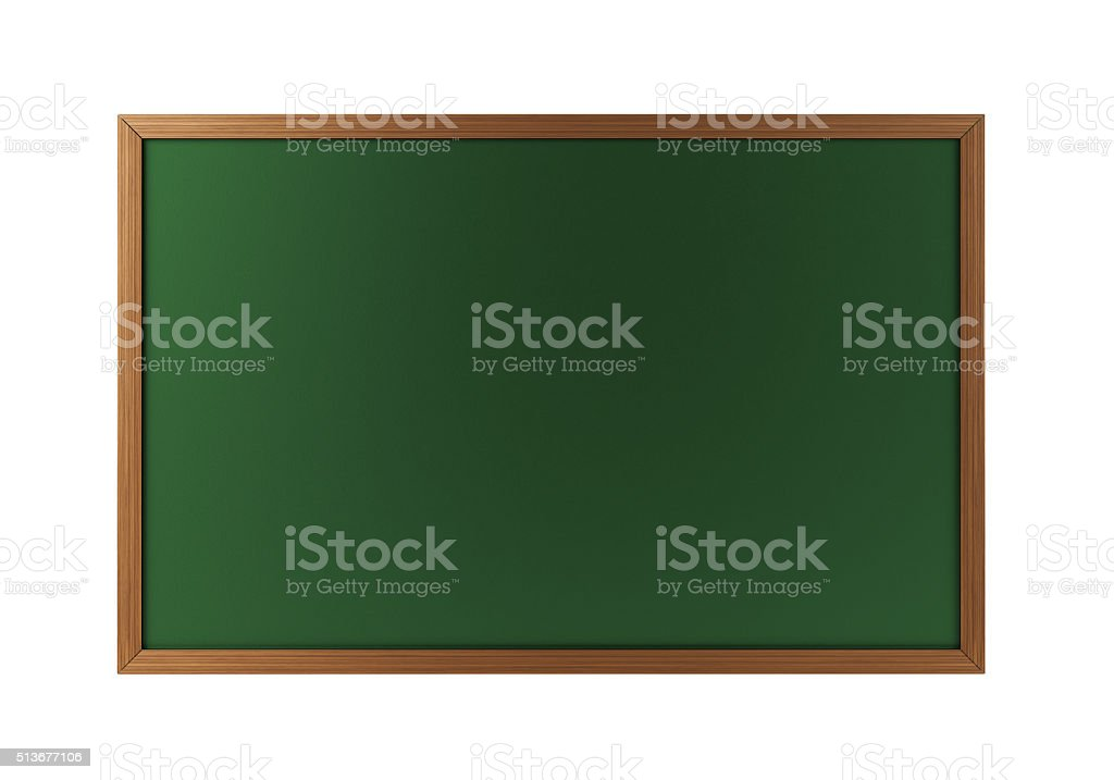 Green Chalkboard With Wooden Frame stock photo