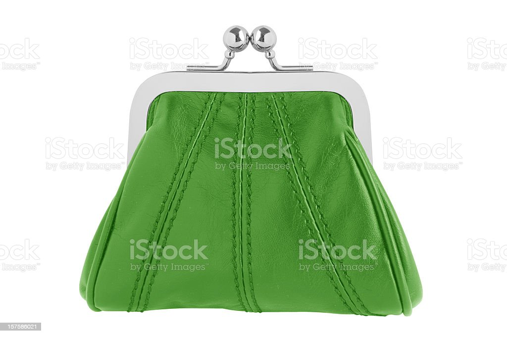 Green changing purse royalty-free stock photo