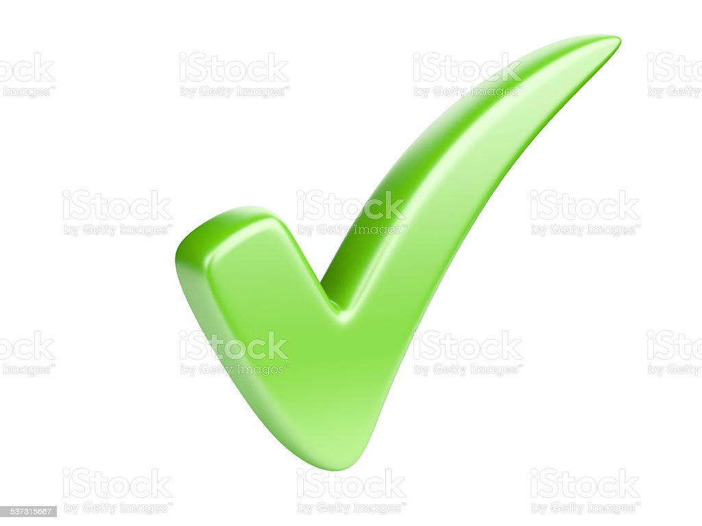 Green check mark stock photo