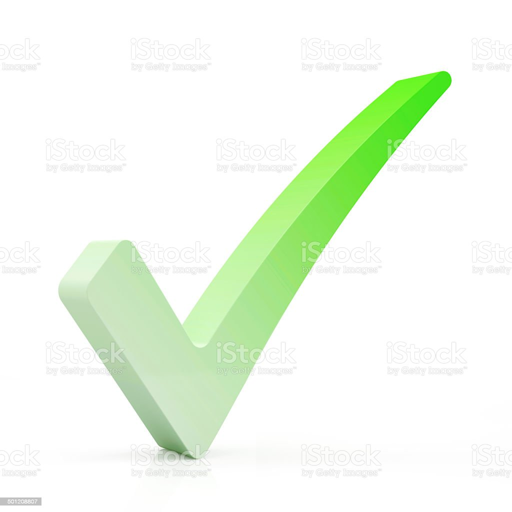 Green Check Mark Symbol isolated on white background royalty-free stock photo
