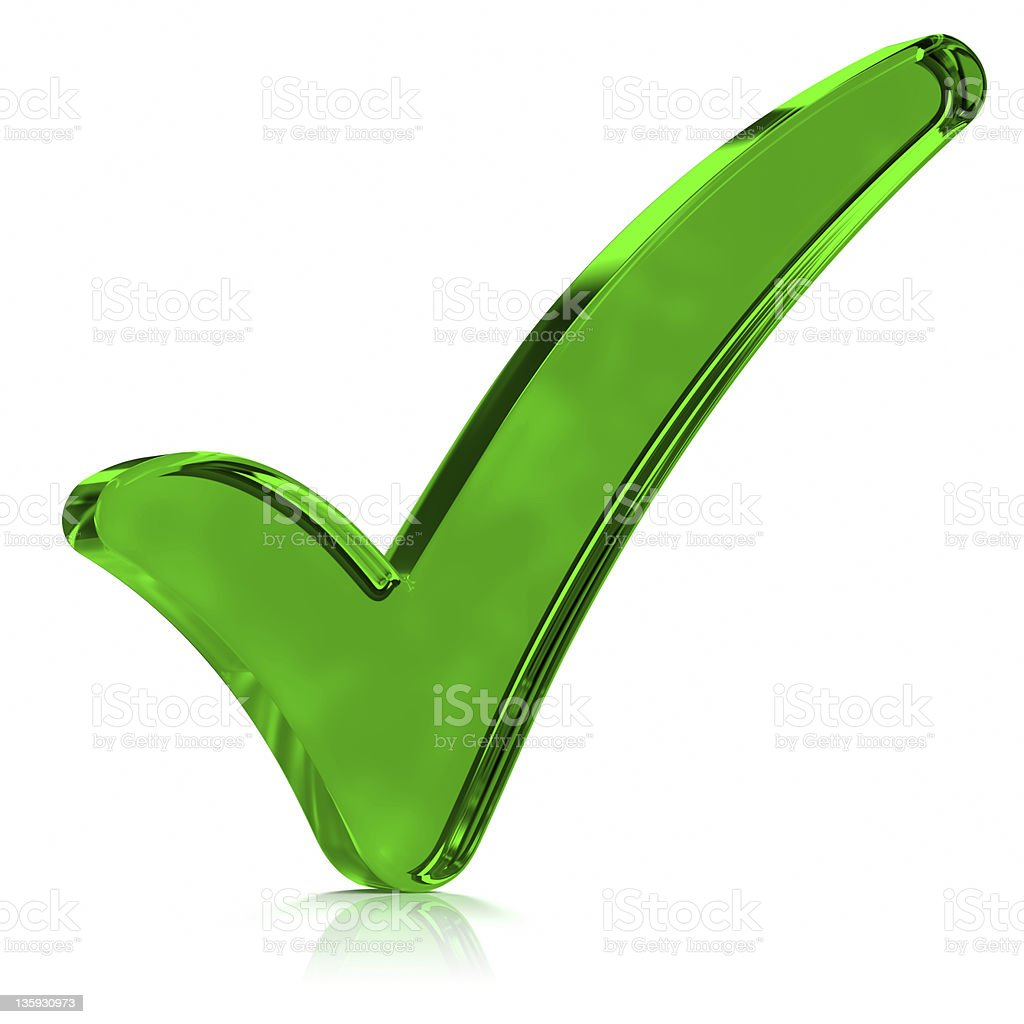 Green Check Mark Symbol stock photo