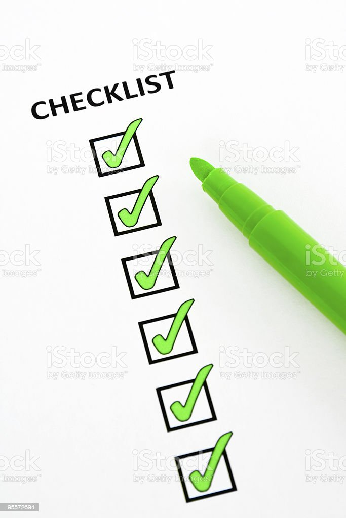 Green checklist royalty-free stock photo