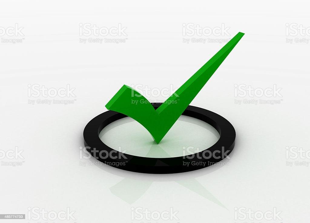 Green checkmark royalty-free stock photo
