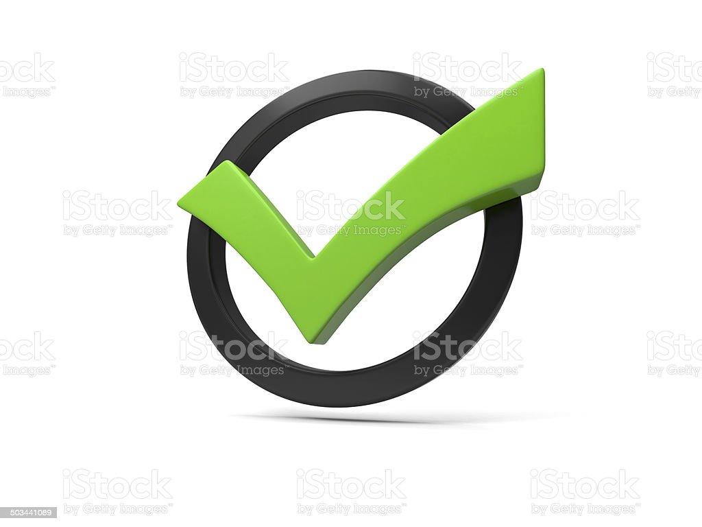 green checkmark stock photo