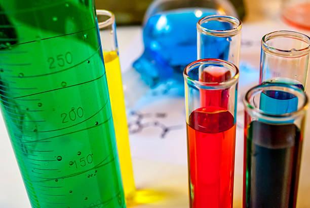 Grün Chemie Illustrationen – Foto