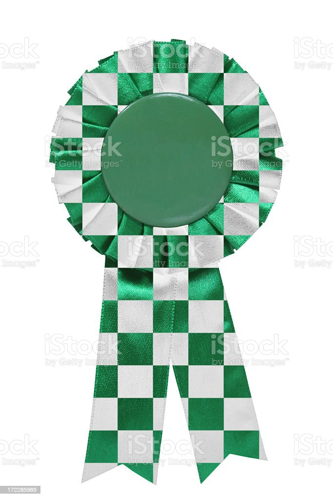 Green chequered ribbon royalty-free stock photo