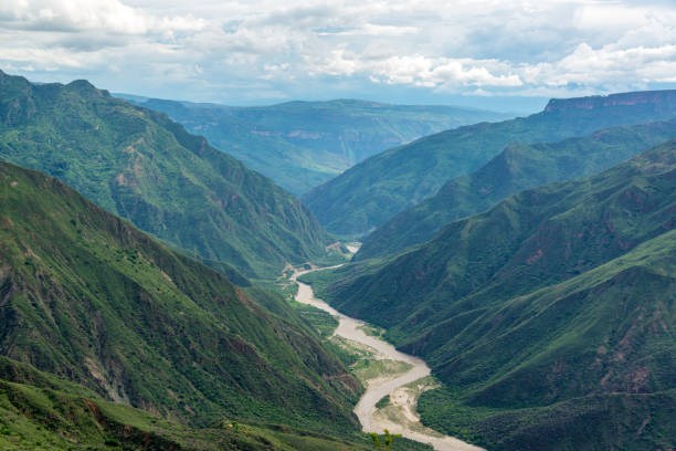 Green Chicamocha Canyon stock photo