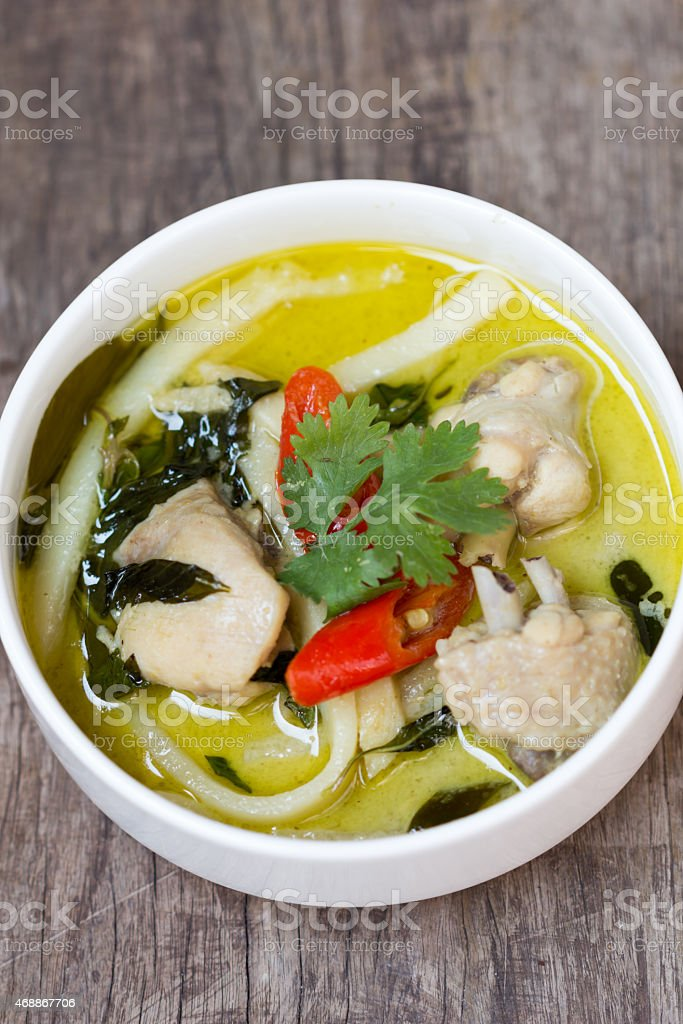 Green chicken curry royalty-free stock photo