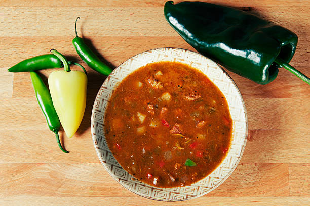 Green Chile Stew made New Mexico Style stock photo