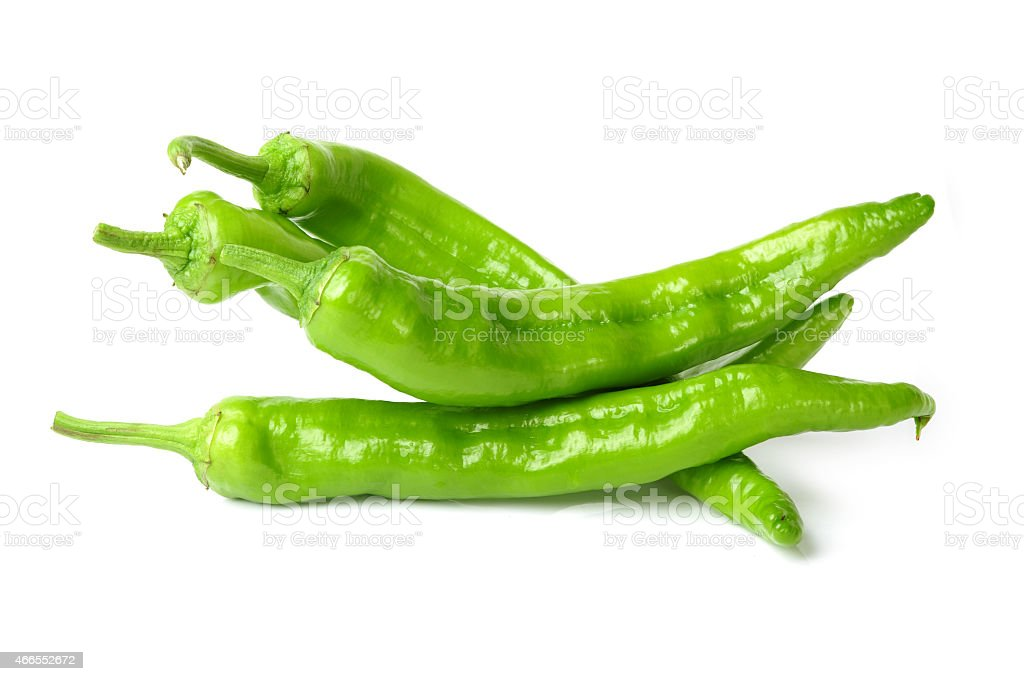 Green chili pepper stock photo