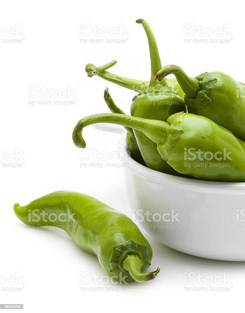Green chili pepper royalty-free stock photo