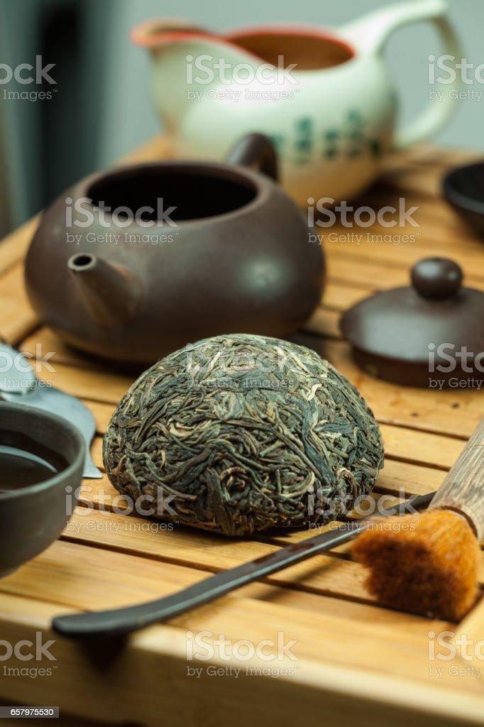 green chinese tea stock photo