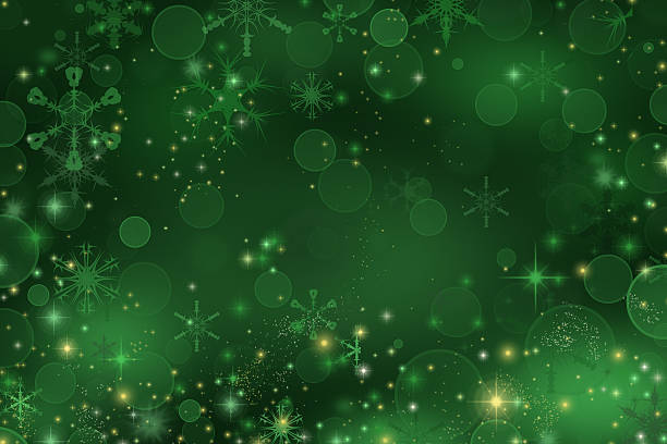 green christmas background - christmas green stock photos and pictures