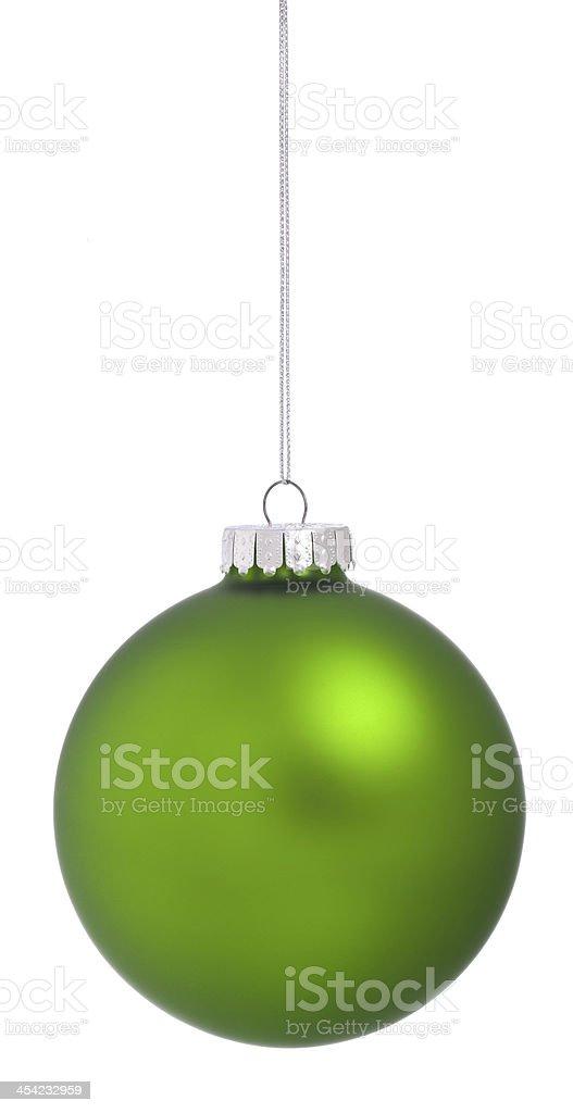 Green Christmas Ball royalty-free stock photo