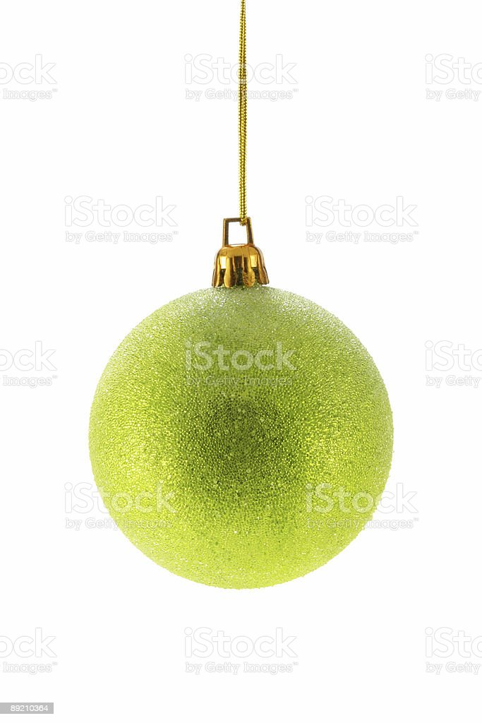 Green Christmas ball royalty-free stock photo