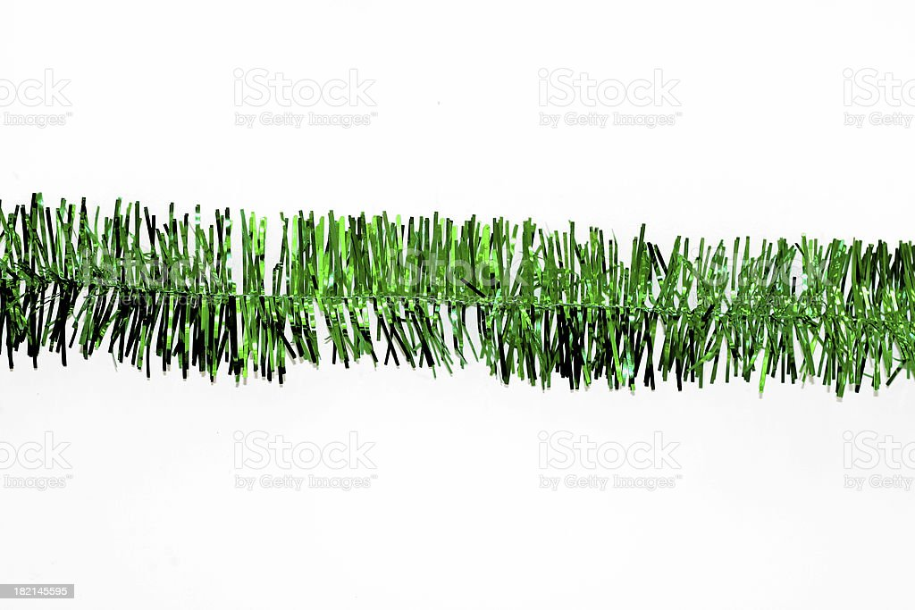 green christmas garland stock photo