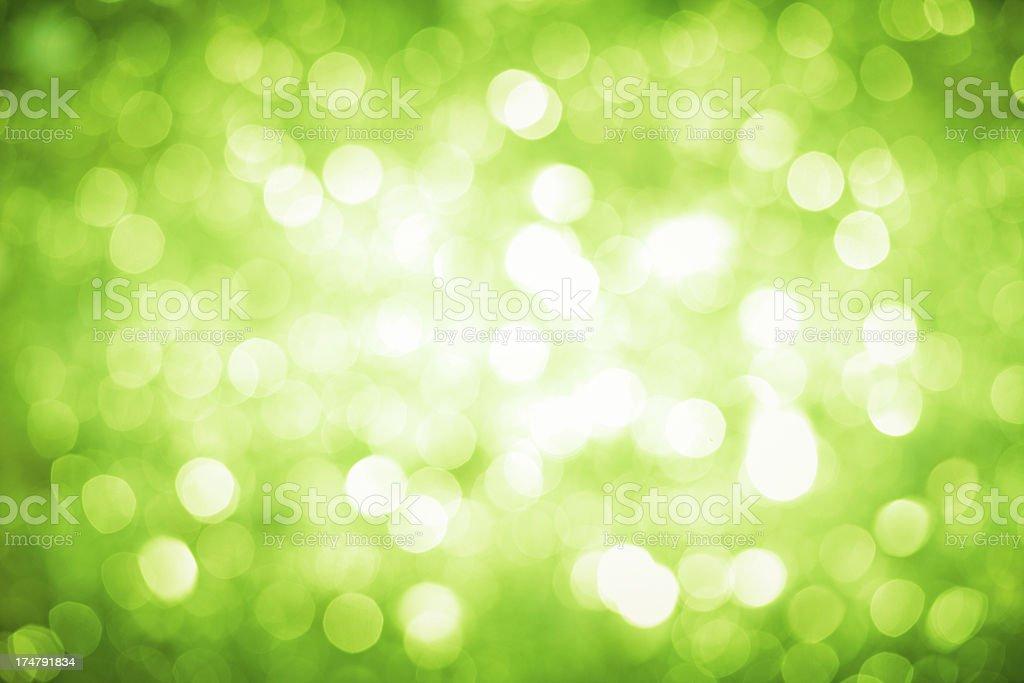 Green christmas lights Hintergrund mit dunkler Ecken und hellen center. - Lizenzfrei Abstrakt Stock-Foto