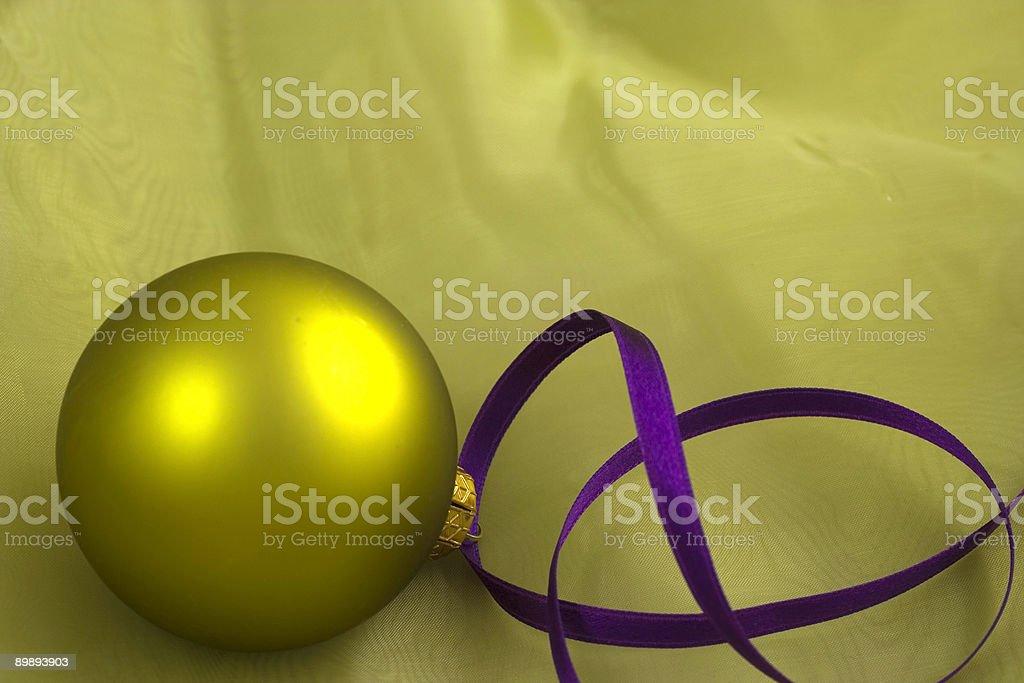 Green christmas ornament Lizenzfreies stock-foto