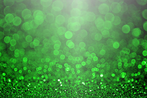 green christmas sparkle or st patrick's day party invitation - st patricks day stock photos and pictures