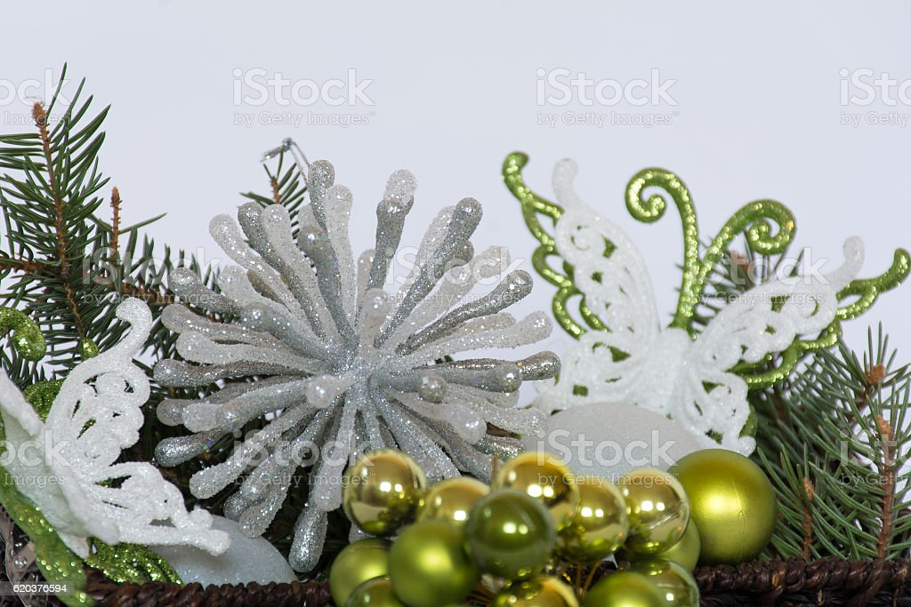Green christmas table decoration foto de stock royalty-free