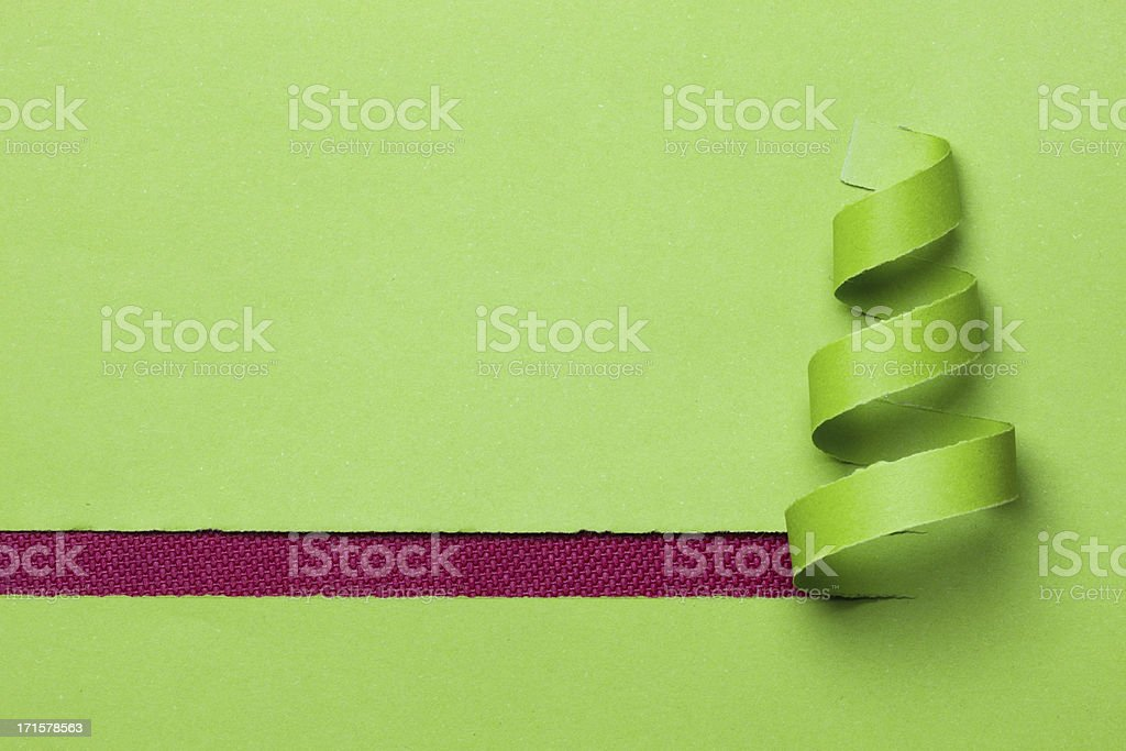green christmas tree stock photo