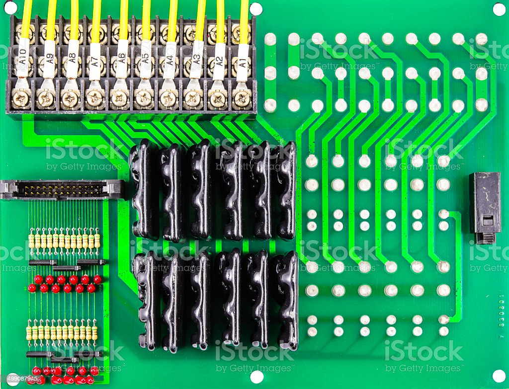 Green Circuit Board Of Computer Stock Photo More Pictures With Electronics Components And Royalty Free