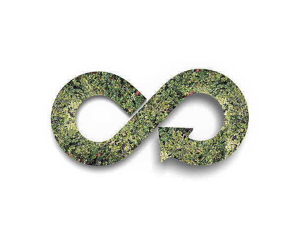 green circular economy concept - economia circular imagens e fotografias de stock