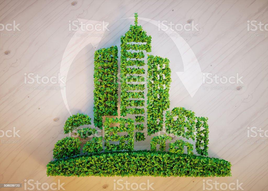 Concepto de ciudad verde - foto de stock