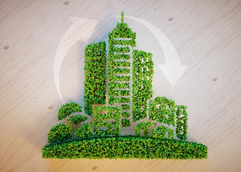 Concepto De Ciudad Verde Foto de stock y más banco de imágenes de Arquitectura