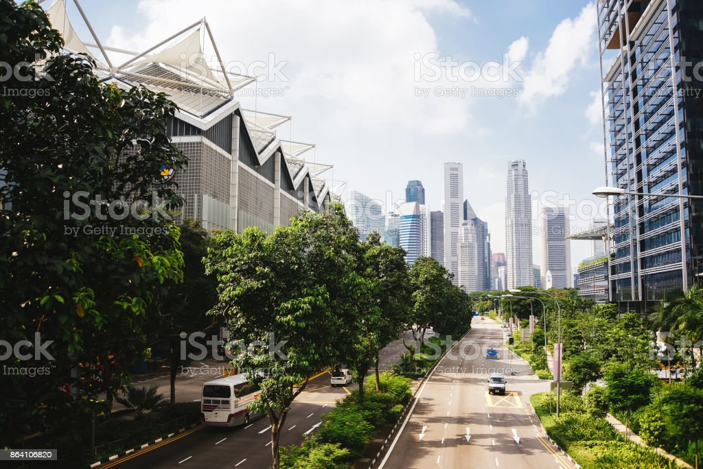 Green city of the future. royalty-free stock photo