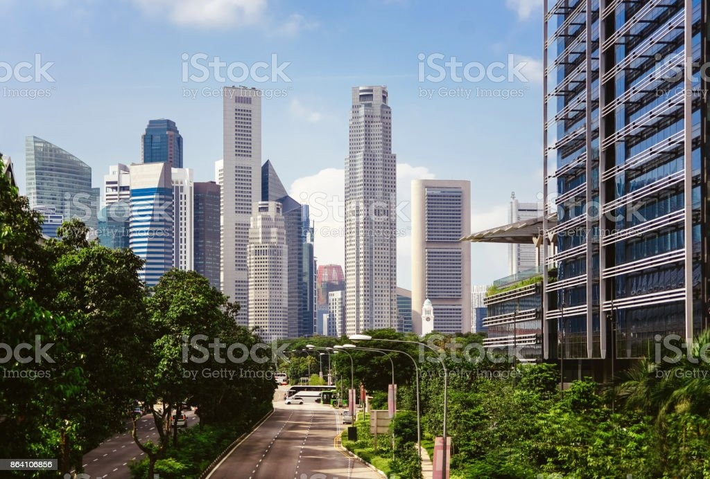 Green city of the future royalty-free stock photo