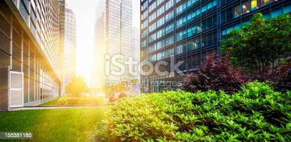 istock Green city park in Shanghai, China 155381185