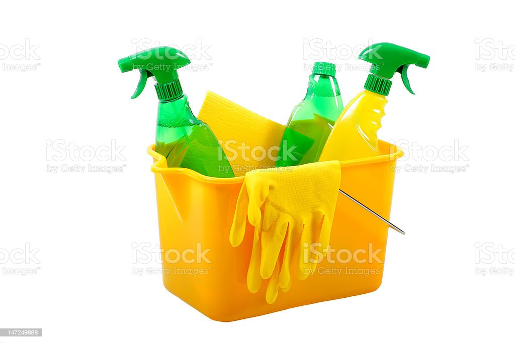 Green cleaning products royalty-free stock photo
