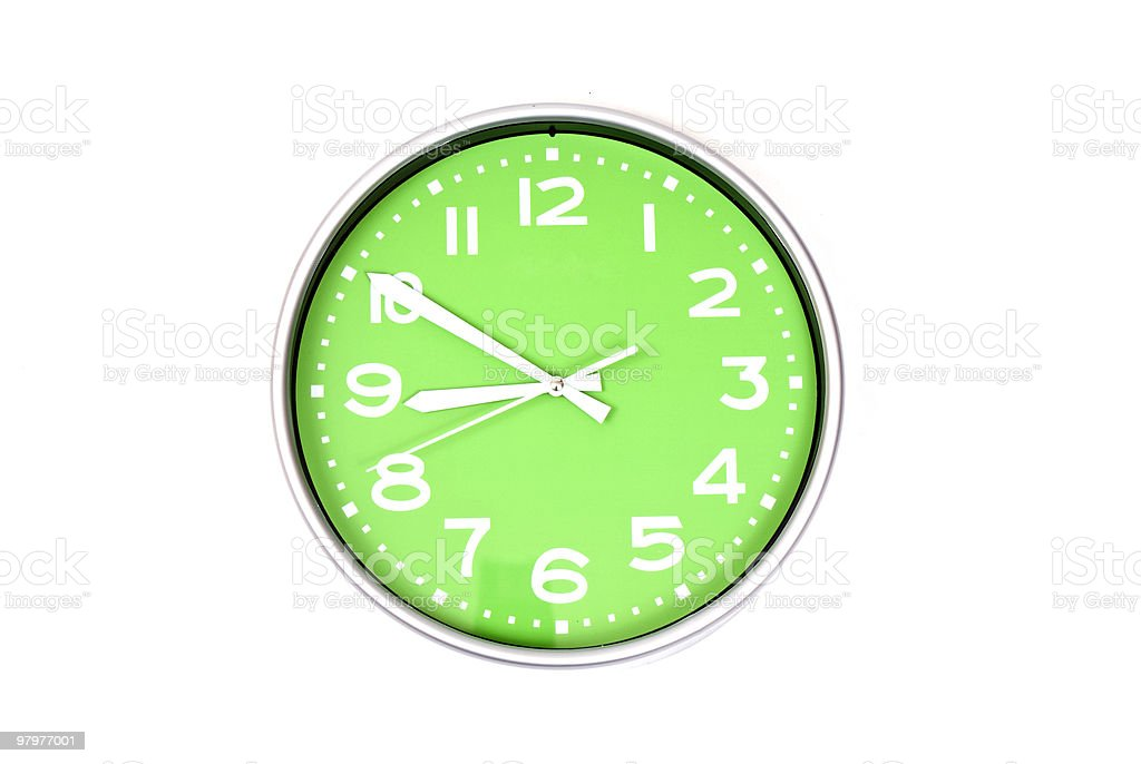 Green clock royalty-free stock photo