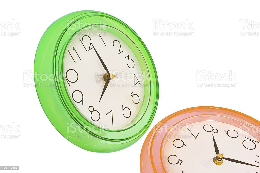 Green clock royalty-free stock photo