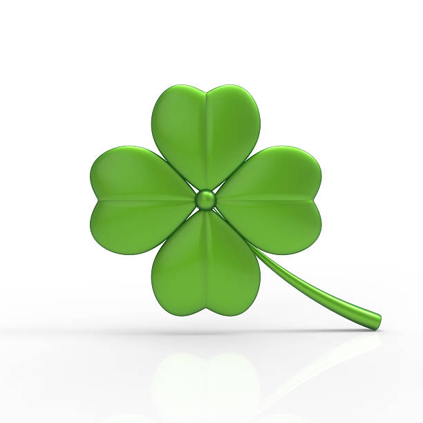 Green Clover 3D stock photo