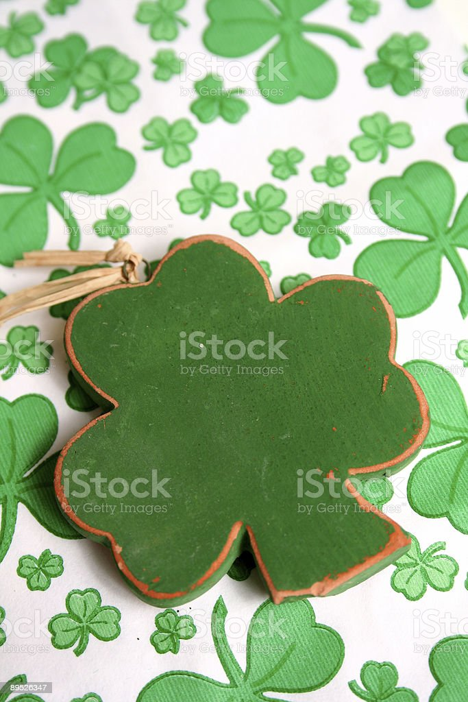 Green Clovers royalty-free stock photo