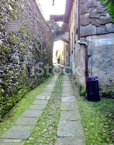 Corners of San Giulio island, the Orta Lake, Piamonte, Nord of italy