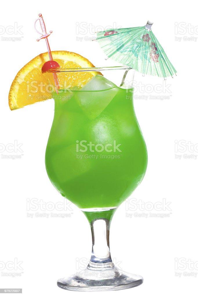 green cocktail orange slice royalty-free stock photo