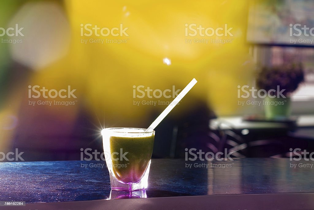green cocktail stock photo