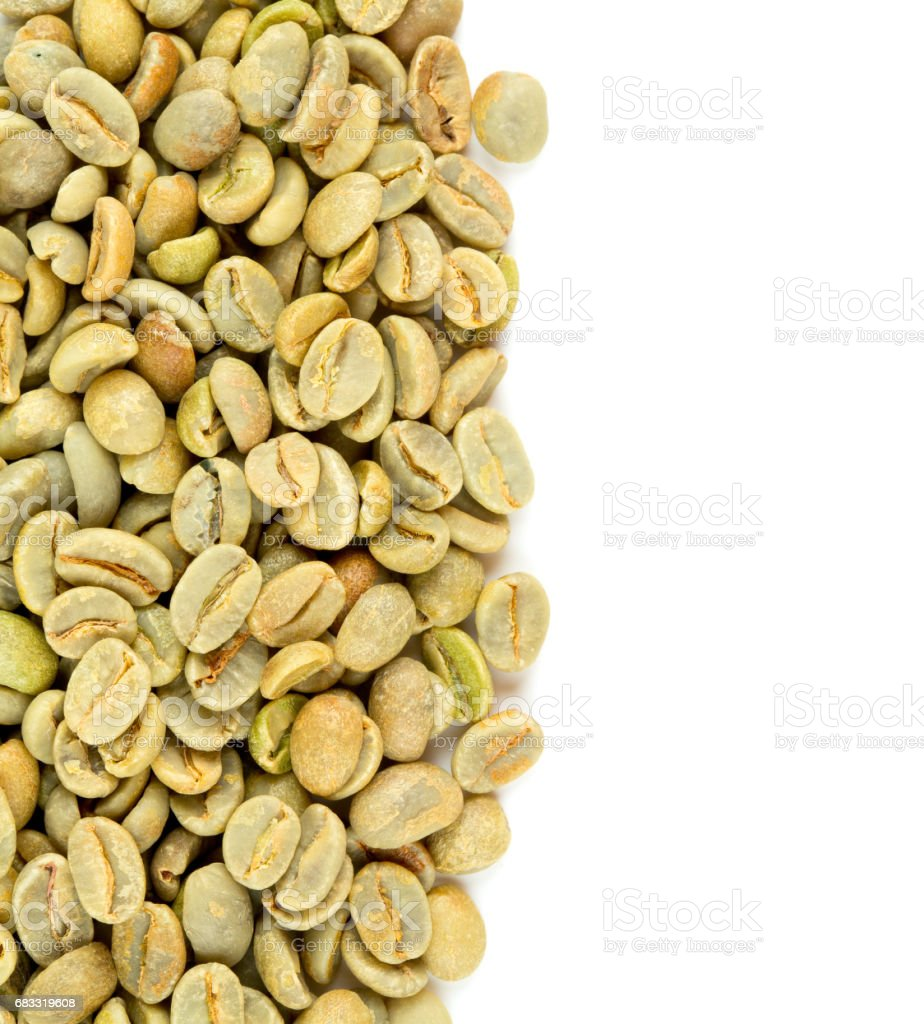 green coffee beans isolated on white background foto stock royalty-free