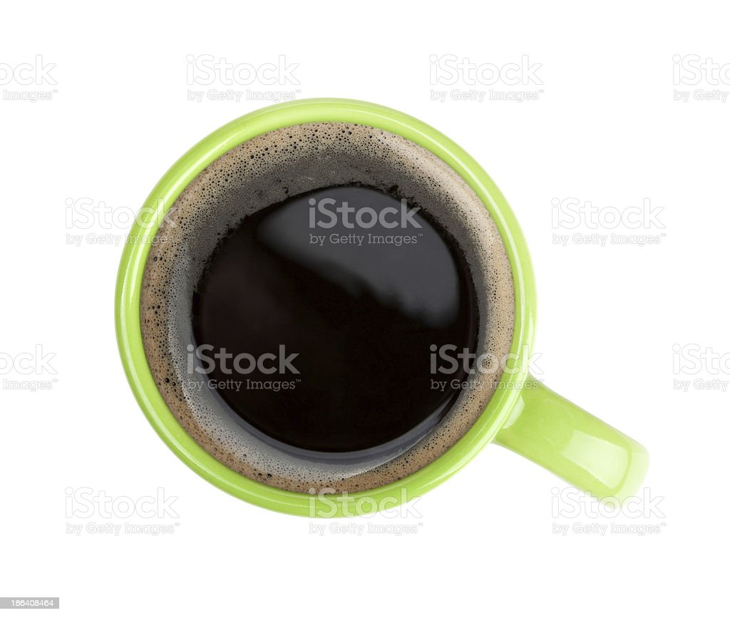 Green coffee cup stock photo