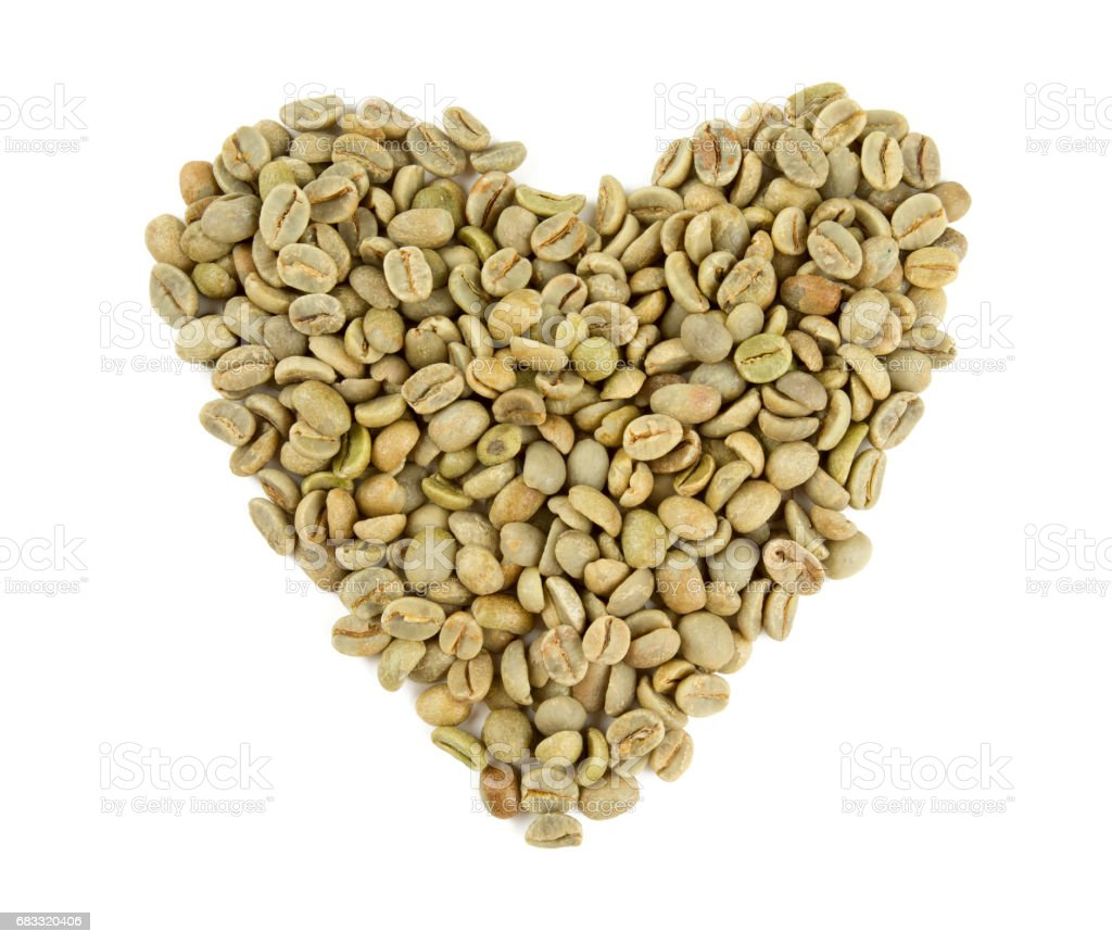green coffee heart foto stock royalty-free