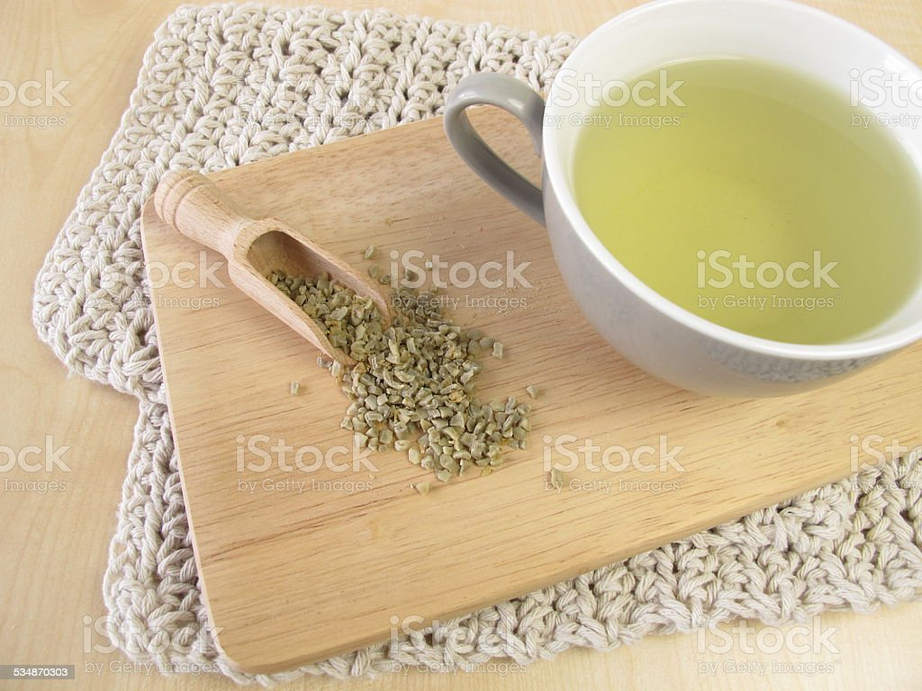 Green coffee stock photo