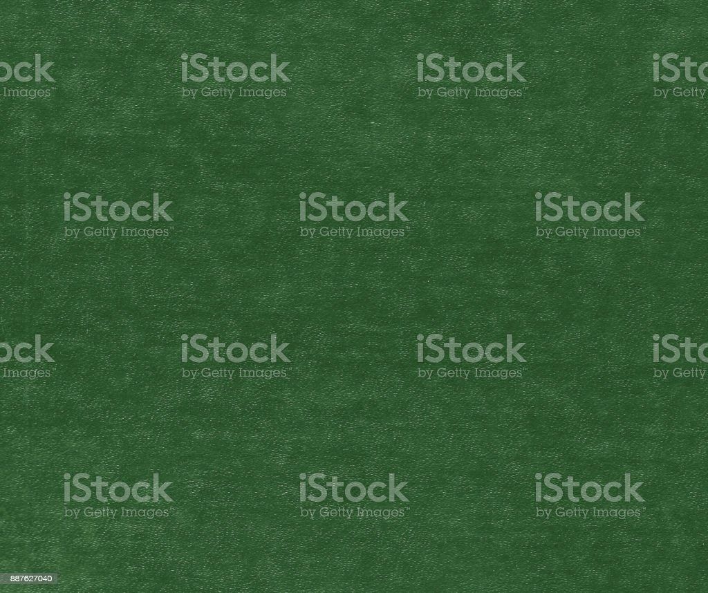 Green color artificial leather surface. stock photo