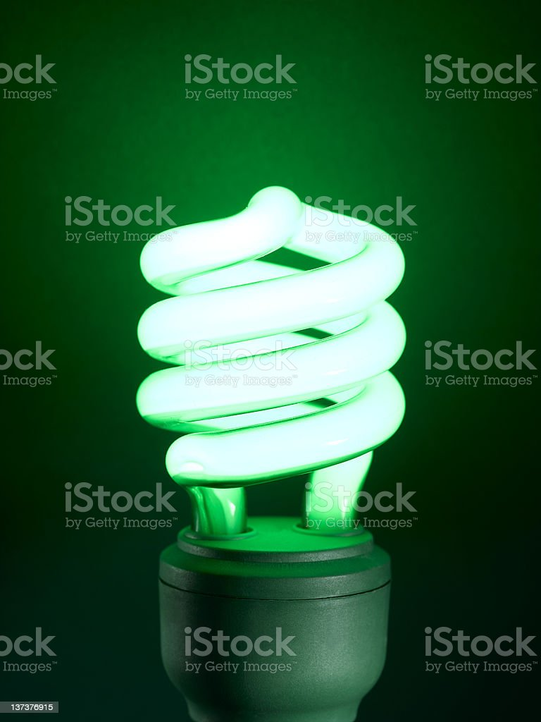 Green Colored Fluorescent Light royalty-free stock photo