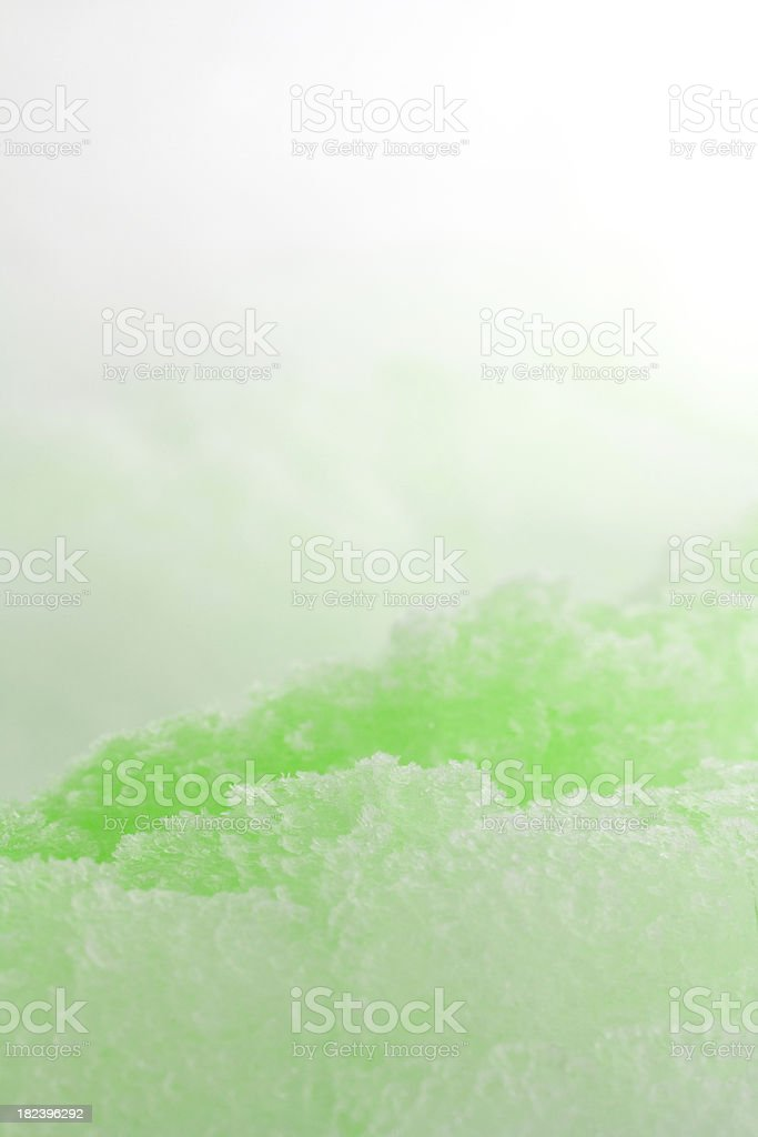Green colored Ice Crystals royalty-free stock photo