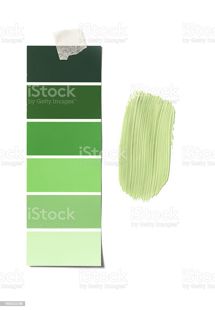 green colour sample stock photo