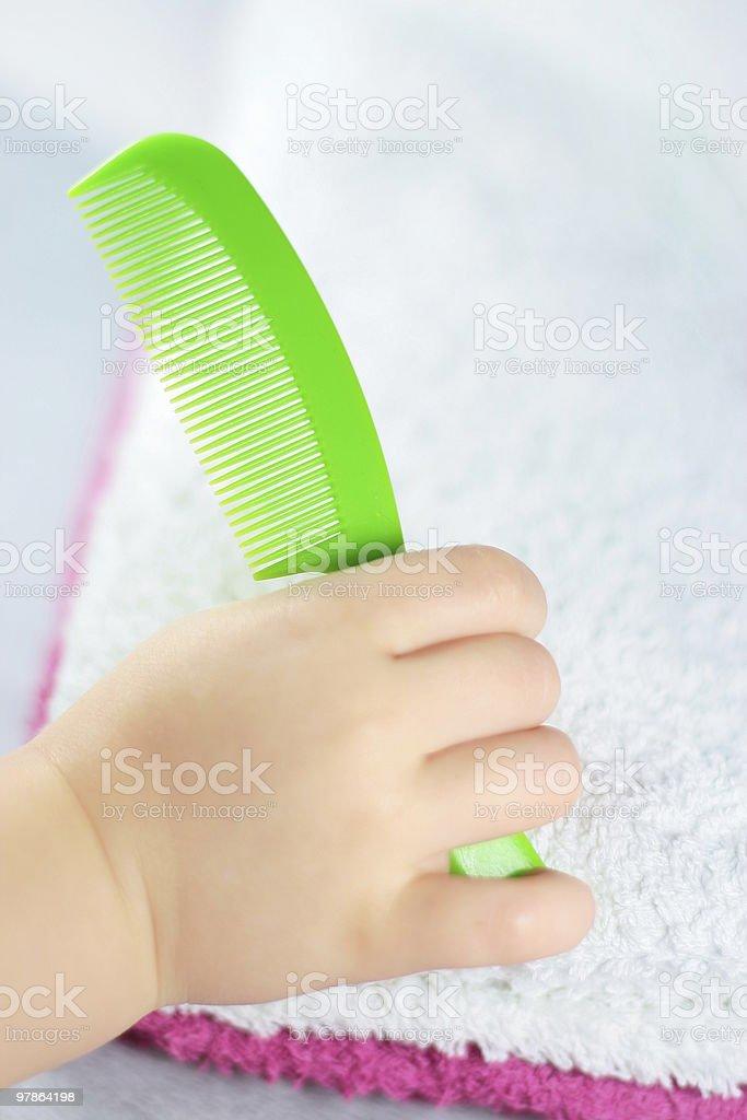 green comb stock photo