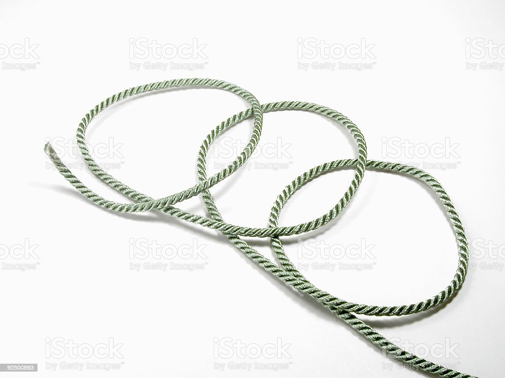 Green Cord royalty-free stock photo